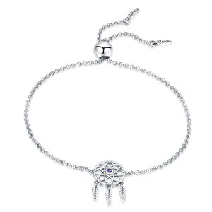 Bratara din argint Dream Catcher Purple