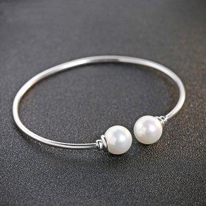Bratara din argint fixa cu Perle Albe