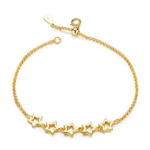 Bratara din argint Golden Stars Chain