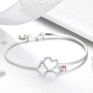 Bratara din argint Little Pink Heart