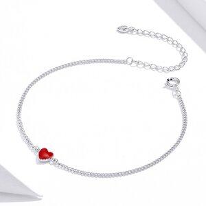 Bratara din argint Red Little Heart