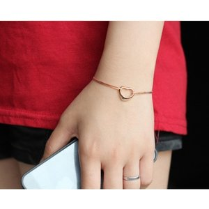 Bratara din argint Rose Gold Heart