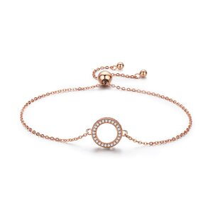 Bratara din argint Rose Gold Shiny Circle