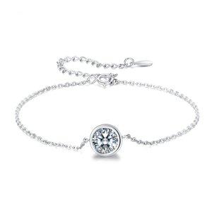 Bratara din argint Shiny Round Crystal