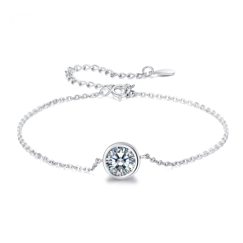 bratara din argint shiny round crystal 77746 4