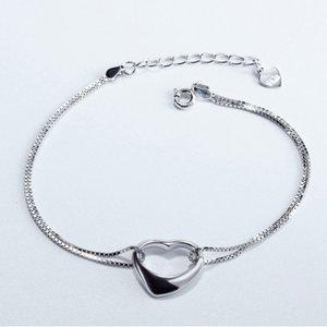 Bratara din argint Silvery Heart