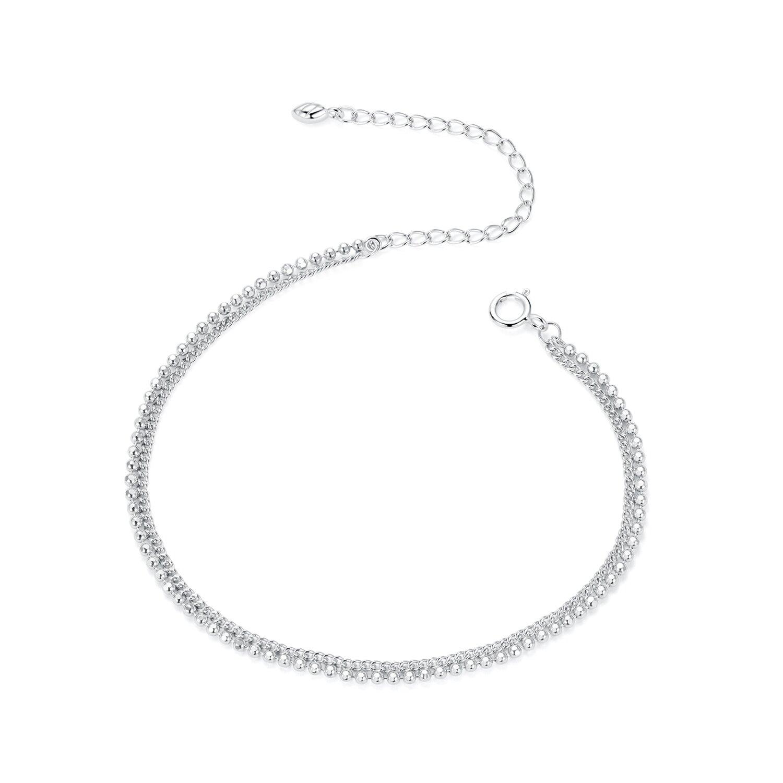 Bratara din argint Simple Chain & Beads