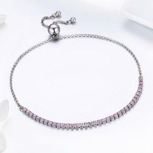 Bratara din argint Sparkling Tennis pink