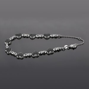 Bratara din argint Spinel Glam Hearts