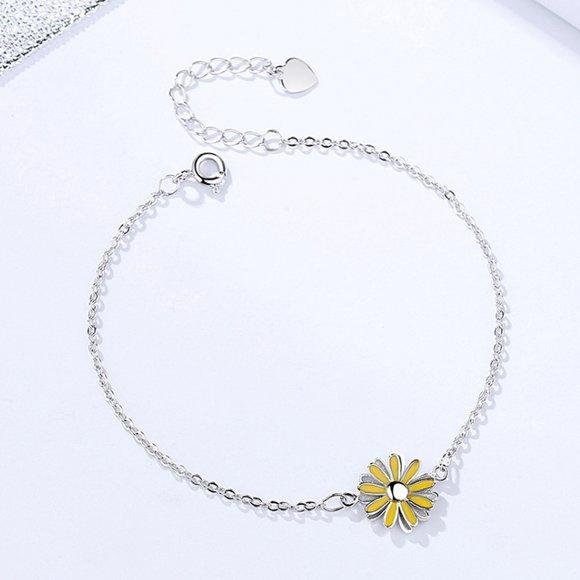 Bratara din argint Yellow Daisy