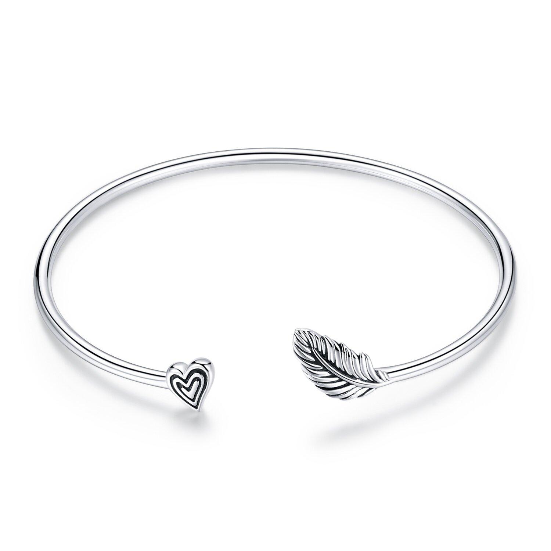 bratara fixa din argint heart leaf 87517 4