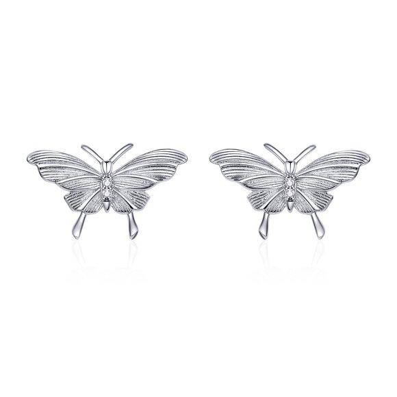 Cercei din argint Amazing Silver Butterflies