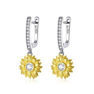 Cercei din argint Amazing Sunflower