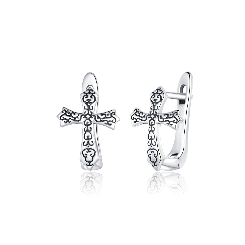 Cercei din argint Ancient Cross