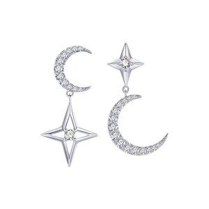 Cercei din argint Asymmetric Big Moon