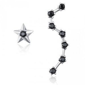 Cercei din argint Asymmetric Stars