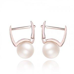 Cercei din argint aurii cu Perle Sidefate