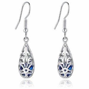 Cercei din argint Beautiful Drop blue