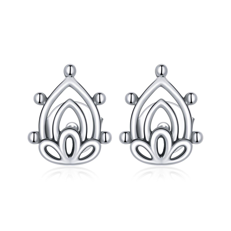 cercei din argint beautiful lotus 86830 4