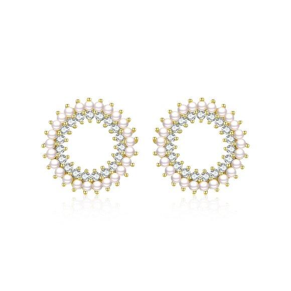 Cercei din argint Beautiful Sparkling Pearls