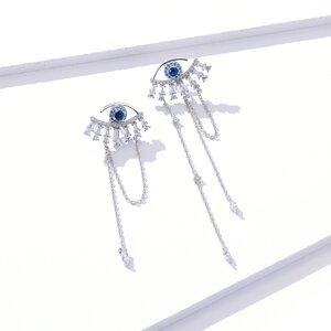 Cercei din argint Bejeweled Eyes