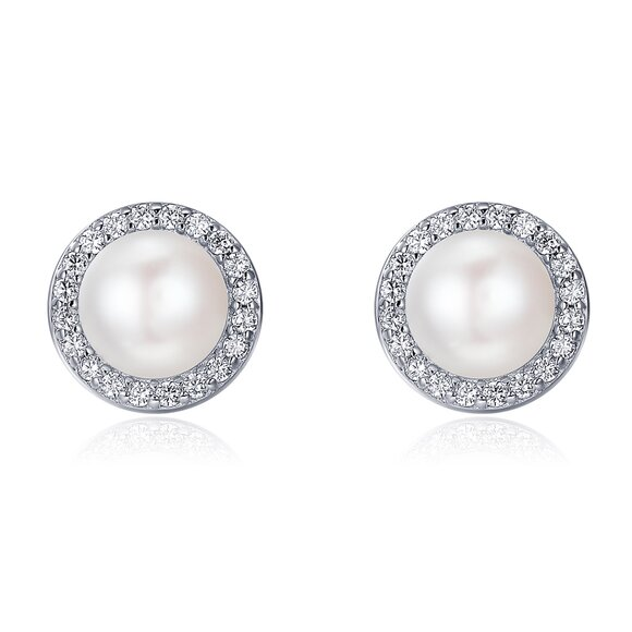 Cercei din argint Big Glamour Pearls