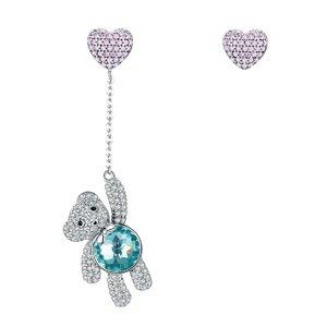 Cercei din argint Blue Crystal Teddy