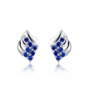 Cercei din argint Blue Flame