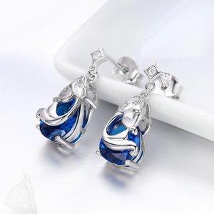 Cercei din argint Blue Mermaids