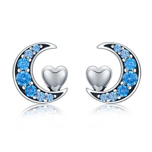 Cercei din argint Blue Moon Crush
