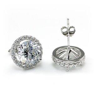 Cercei din argint Brilliant Diamond Cut