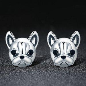 Cercei din argint Bulldog