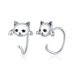 Cercei din argint Cats Cuffs