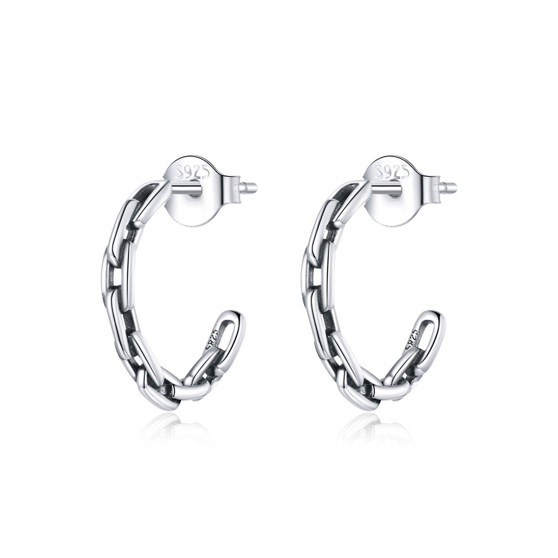 cercei din argint chain hoops 87169 4