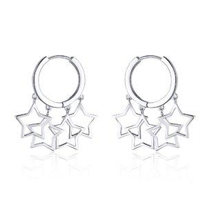 Cercei din argint Chic Silver Stars