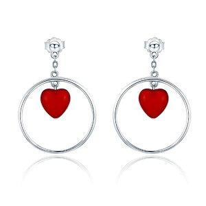 Cercei din argint Circle of Love
