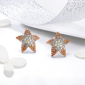 Cercei din argint Coral Starfish