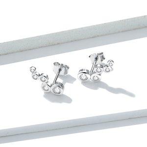 Cercei din argint Crystal Dots