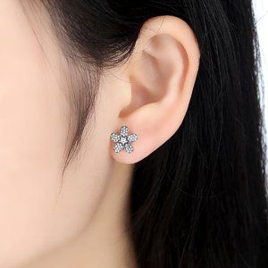 Cercei din argint Crystal Flower