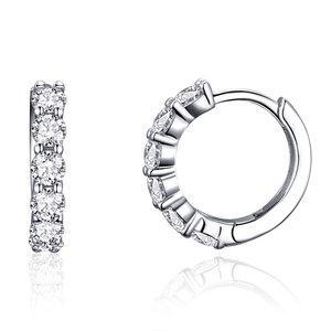 Cercei din argint Crystal Hoops