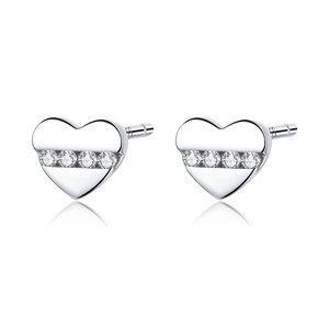 Cercei din argint Crystal Little Hearts