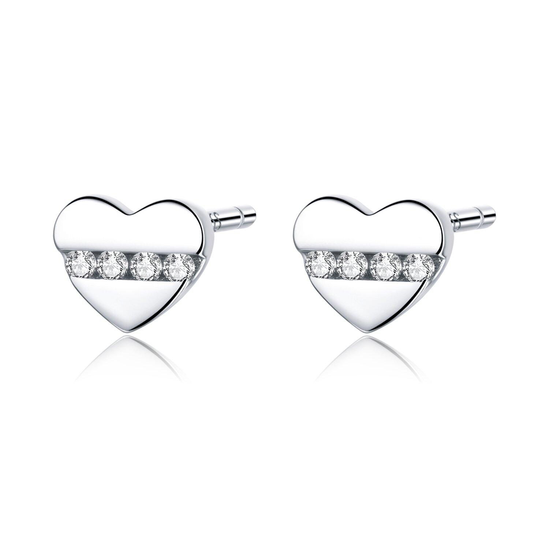 Cercei din argint Crystal Little Hearts poza 2021