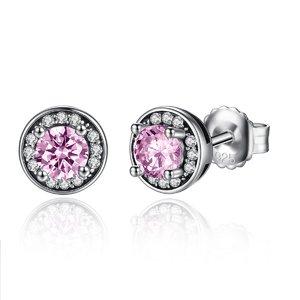 Cercei din argint Crystal Shine Pink