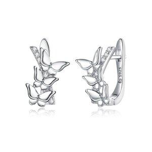 Cercei din argint Crystaline Butterflies