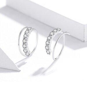 Cercei din argint Crystals Swirls