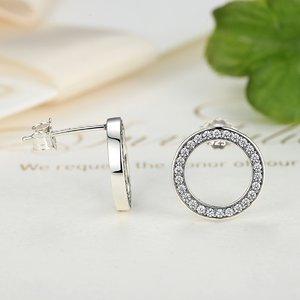 Cercei din argint cu Cerculete si Cristale