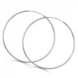 Cercei din argint cu Cercuri Mari