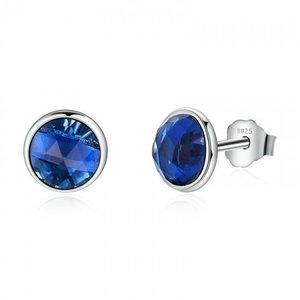 Cercei din argint cu Cristale Albastre