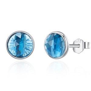 Cercei din argint cu Cristale Albastru Light