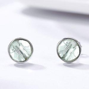Cercei din argint cu Cristale Aqua Blue